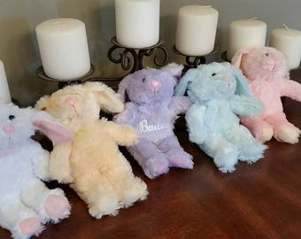 Personalized Easter Bunnies Stuffed Animal/ Easter Basket Gift