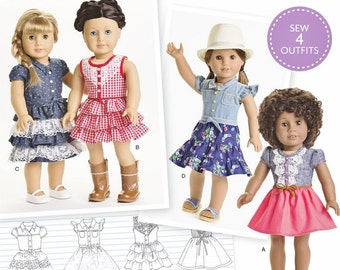 American Girl Doll Clothes Pattern, AG Doll Clothes Pattern, 18 inch Doll Clothes Pattern, Simplicity Sewing Pattern 8359
