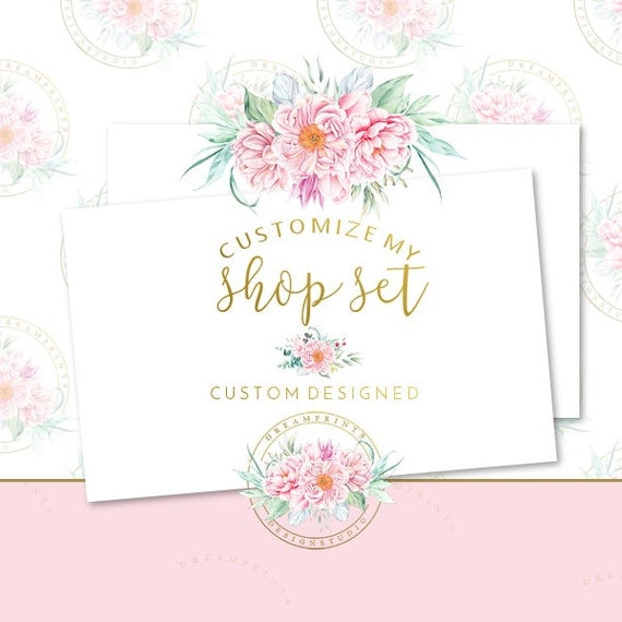Customize My DIY Etsy Shop Set | Business Set | Business Branding | Facebook Business | Facebook Package | Etsy Mini | Facebook DIY