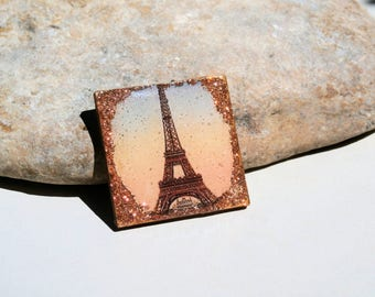 wooden geometric cab - Eiffel Tower - romantic french supply for jewel creation
