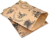 Small Musical Cherub Angel Print Kraft Brown paper bags