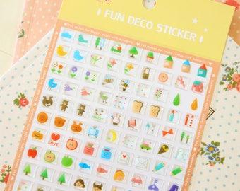 Yellow Fun Deco Puffy scrapbooking diary stickers