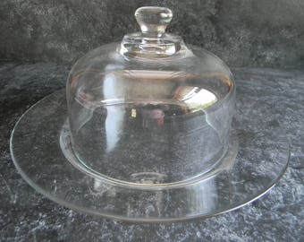 Vintage glass globe and plate, apothecary, garden decor tablesetting, wedding table setting centerpiece decorations reception