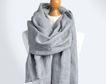 BALTIC LINEN scarf,  fashion oversized scarf, SHAWL , pure linen, linen scarf, natural scarf, eco fashion, gift for her, european linen
