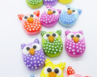 100 Miniature Polymer Clay Animal for Dollhouse and Beads Jewelry