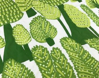 Rare Marimekko Metsanvaki Forest Dwellers Fabric Green Trees
