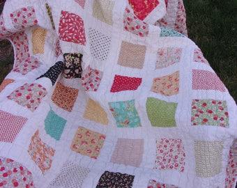 Chestnut Street Patchwork Lap Quilt - Cottage Chic