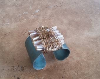 Natural Mother of Pearl Cuff