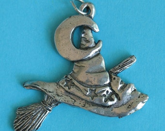 Hat and Broom pendant