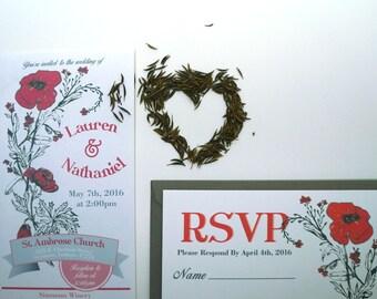 Wildflower Seed Packet Wedding Invitation