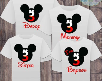 Matching Birthday Family Boy Disney Tshirts - Mickey Mouse Birthday Girl - Disney Inspired - Matching Birthday Shirts