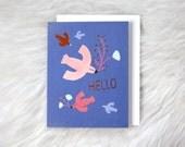 HELLO copper foil card