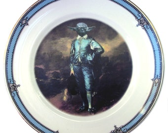 "Blue Yoda Portrait Plate 6"""
