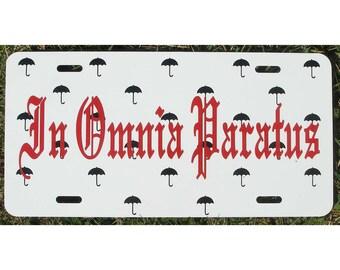Gilmore Girls In Omnia Paratus Car Tag Life and Death Brigade License Plate