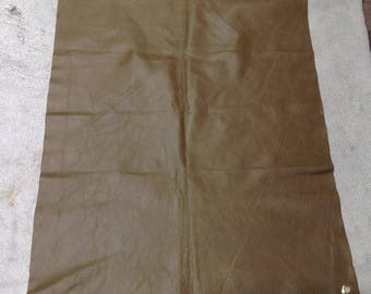 SW617.  Olive Leaher Cowhide Remnant