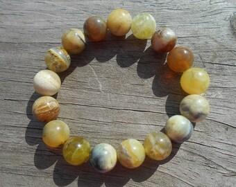 Natural Yellow Opal Stretch Bracelet