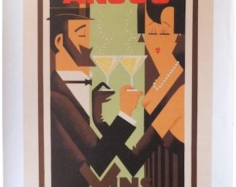 Vintage Anjou Vins Mousseux Poster