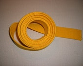 """Cotton Webbing . Golden Yellow . 1.25"""" Inches Wide . Heavy Weight"""