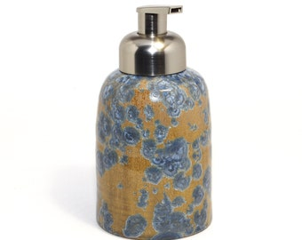 "NEW COLOR ""Drifting Blue"" Crystalline Glaze - Foaming Soap Dispenser"