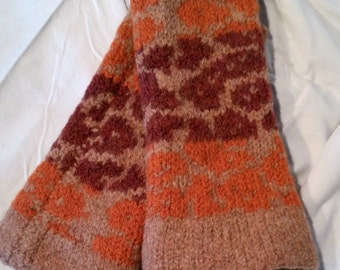 Hand Knit, Felted Wrist Warmers, #65