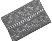 Travel Tissue Holder, Silver, Glitter, Travel Tissue Cozy, Pocket Tissue Holder