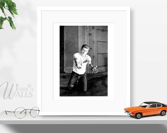 JAMES DEAN Photo, 20 Years Old, Vintage Book Plate, Black And White Rebel Without a Cause Picture