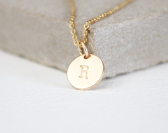 Gold Initial pendant necklace, personalised necklace, bridesmaid gift, best friend, mother, daughter, bridal jewellery