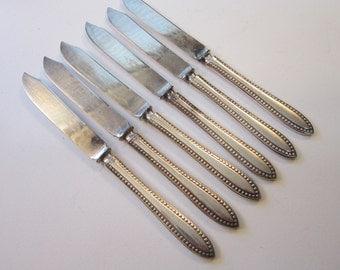 6 vintage silver plated FRUIT knives - VESTA 1895 - 1847 Rogers Bros