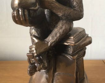 Resin Figure of a Chimpanzee, Darwins Mistake