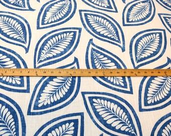 Pkaufmann Fabric Leaf For Ever Indigo Blue