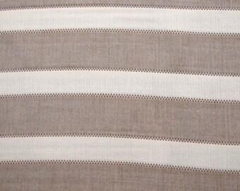 Tan White Horizontal Fabric