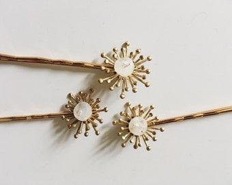 Les étoiles hairpins SET of 3, #1404
