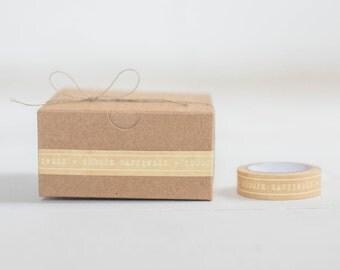 Kraft Gift Wrapping KIT-  Set of 10 Kraft Boxes- 1 Roll- Choose Happiness PaperTape- 10 yards Hemp Twine