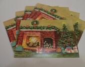 Vintage Christmas Cards Set of 6