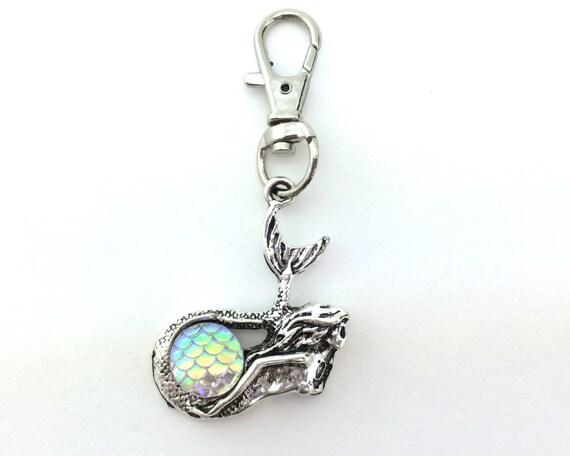 Silver Mermaid Keychain