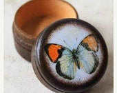 ON SALE Tiny Butterfly Pill Box - Stocking Stuffers