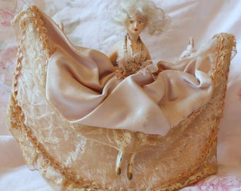 French Boudior Doll Lamp...