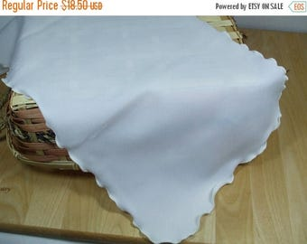 SALE 50% OFF Vintage White Chiffon ruffled edge scarf