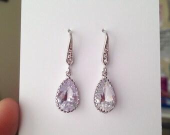 Sale 25% off - Teardrop Earrings - Bridal Earrings - gift for her