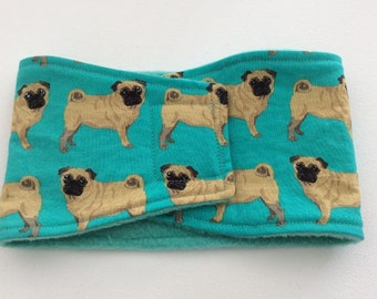 Belly Bands for Male Dogs - Belly Band - Male Dog Diapers - Male Dog Belly Band - Pugs -Available in all Sizes