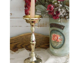 Godinger Silver Art Candle Holder - Vintage Candlestick Holder - Brass Candle Holder