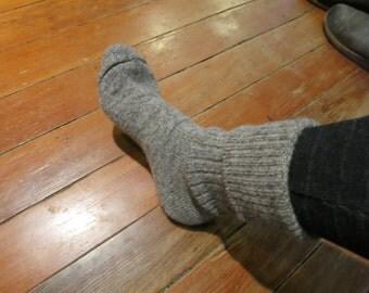 socks knitted from our Turkey Creek wool yarn