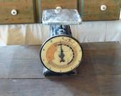 vintage hanson kitchen scales cook meter, black