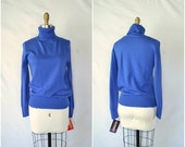 SALE 40% OFF vintage bright blue turtleneck sweater / simple sweater / small medium large