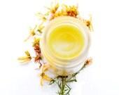 Healing Weeds Balm - Skin Healing Yarrow, St. John's, Plantain - Organic, Wildcrafted - 1 oz glass jar