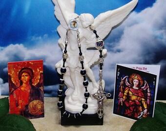 St. Michael, the Archangel, One-Decade Catholic Rosary, Angel Rosary, Archangel Michael, Heirloom Rosary Chaplet