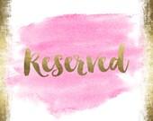 Custom Listing for--valerie--Reserved