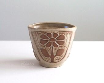 Vintage David Stewart Lions Valley Floral Vase Flower Pot