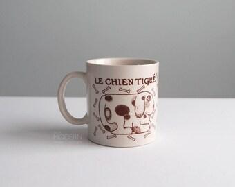 Taylor and Ng Le Chien Tigre Dog Brown Ceramic Japan Mug