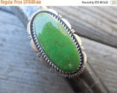ON SALE Gaspeite ring handmade and signed in sterling silver by an American Indian